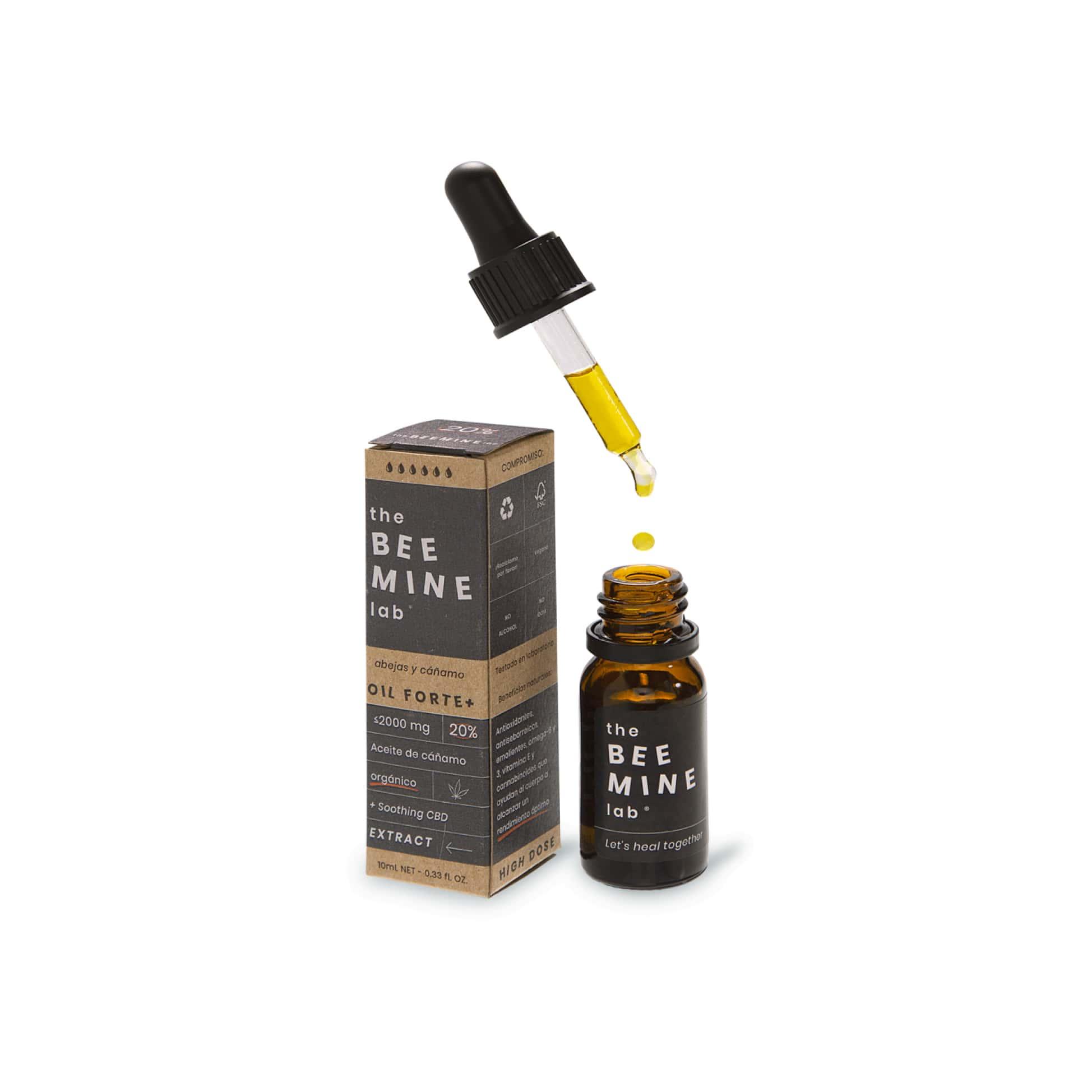 Aceite de CBD 20% Forte + CBD abierto-min