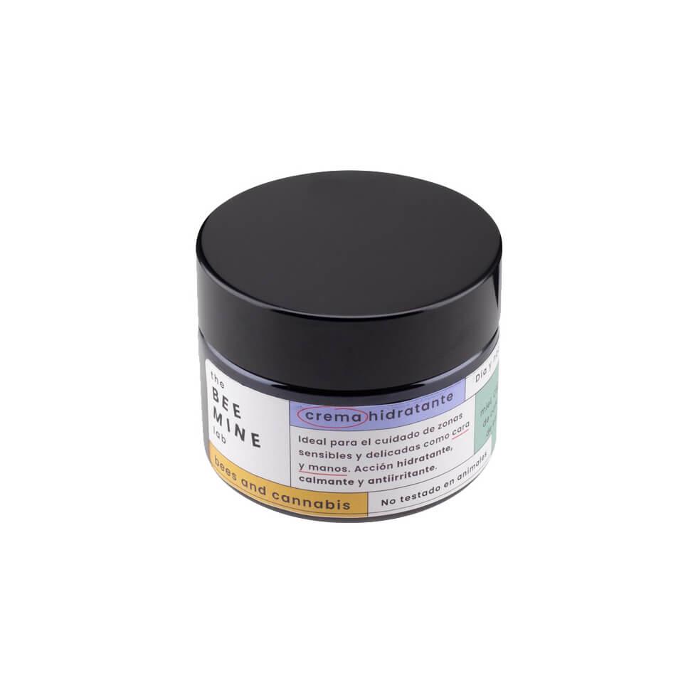 Crema hidratante facial con CBD