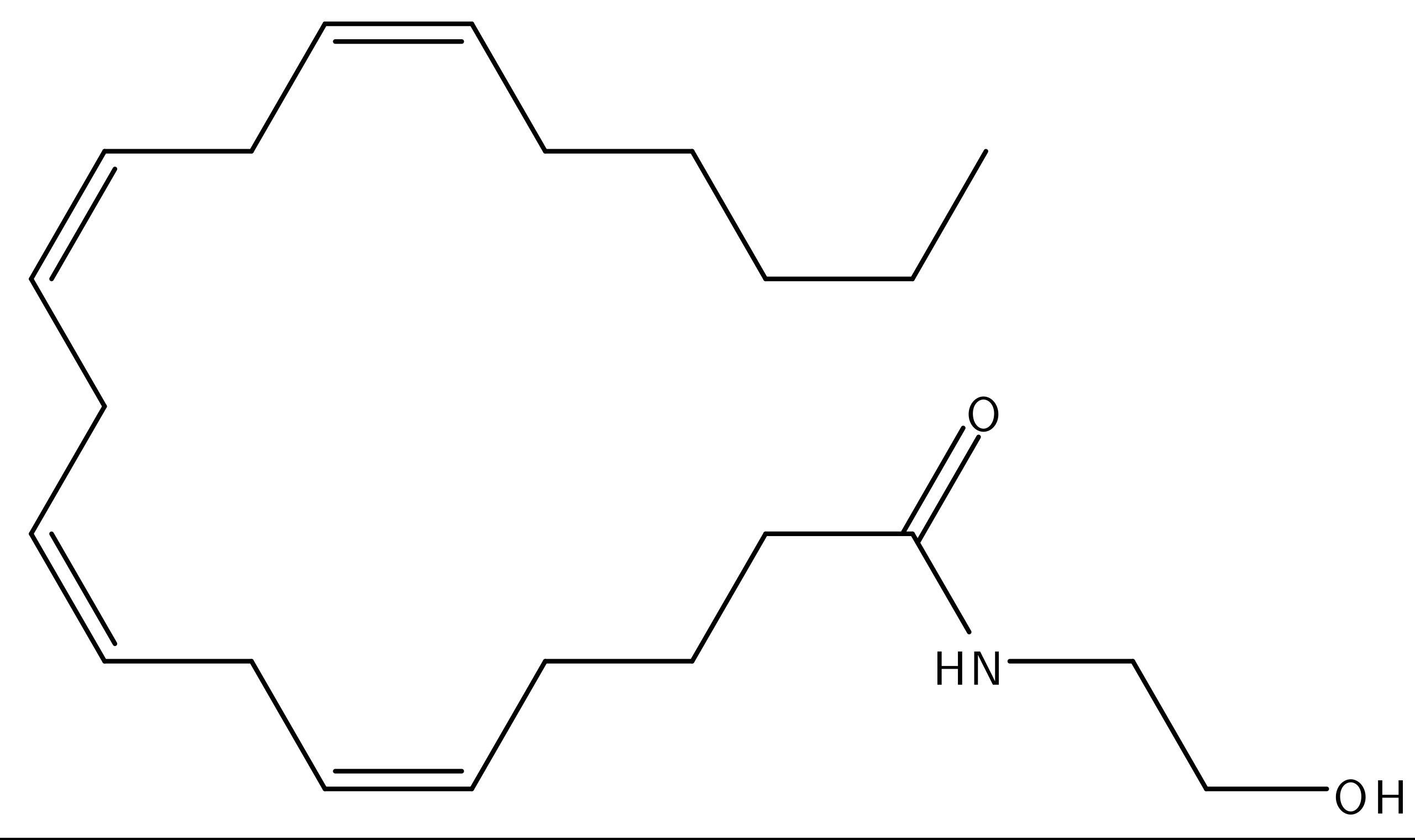estructura molecular anandamida